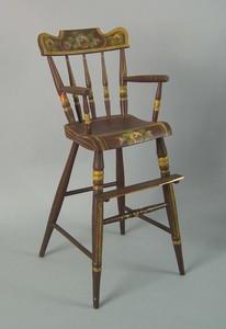 Pennsylvania painted highchair, 19th c., retaining