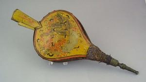 Painted bellows, 19th c., retaining its original f