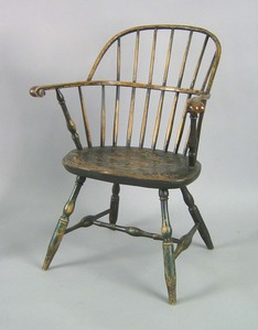 New England sackback windsor chair, ca. 1775, prob