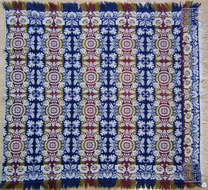 Dauphin County, Pennsylvania jacquard coverlet, in