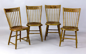 Rare set of 4 West Chester, Pennsylvania decorated