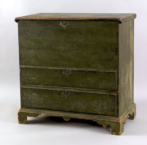 New England painted pine blanket chest, 19th c., w