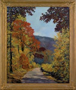 Harry M. Book(American, 1904-1971), oil on canvasu