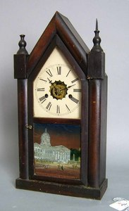 Forestville mahogany steeple clock, ca. 1850, with