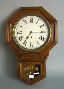 Sessions oak regulator clock, 27 1/4