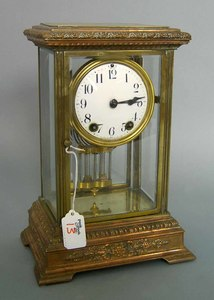 Seth Thomas 8-day crystal regulator shelf clock wi