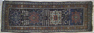 Persian runner, ca. 1910, with 4 medallions on a b