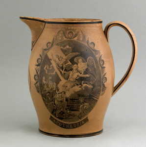 Liverpool pitcher of nautical interest, early 19th