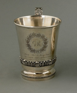 Philadelphia silver presentation mug of nautical i