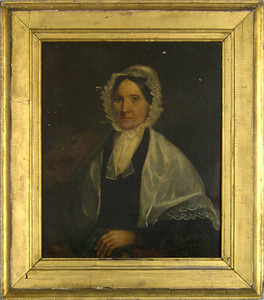 Philadelphia oil on canvas portrait of a woman, ca