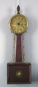Massachusetts Federal mahogany banjo clock, ca. 18