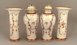 Set of 4 Chinese export porcelain garnitures, ca.8