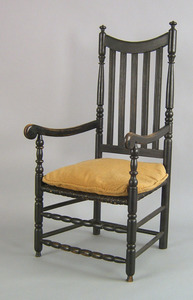 Connecticut Queen Anne maple armchair, ca. 1740, w