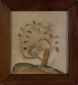 American silk on silk pictorial needlework, early9
