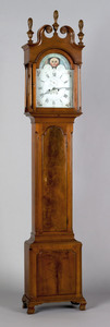 Pennsylvania Chippendale walnut tall case clock, l
