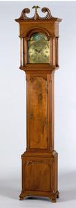 Philadelphia Chippendale walnut tall case clock, c