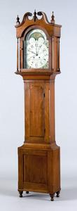 Lancaster, Pennsylvania cherry tall case clock, ea