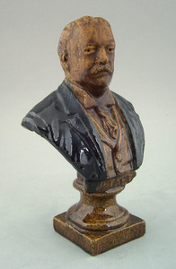 Sewer tile bust of U.S. president William Howard T