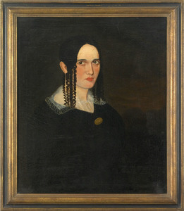 American folk art portrait, ca. 1830, of a woman,7