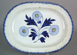 Leeds feather edge platter, early 19th c., with fl