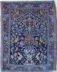 Four Kashan mats.