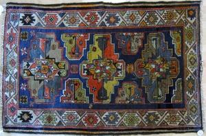 Oriental throw rug, ca. 1940, 5'2