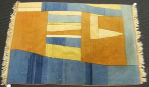 Art deco throw rug, 6'6