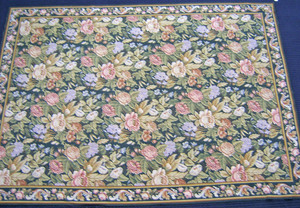 Needlework rug, early/mid 20th c., 11'6