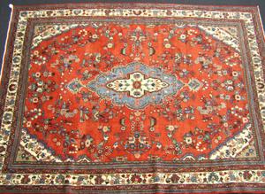 Roomsize oriental rug, ca. 1960.