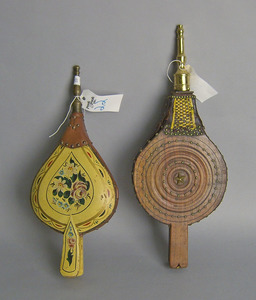 Painted bellows, 19th c., 17 1/4