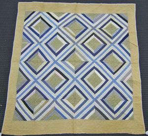 Pieced quilt, ca. 1900, 73