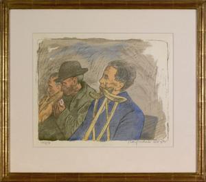 Raphael Soyer(American, 1899-1987), colored lithog