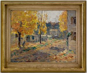 John Fulton Folinsbee(American, 1892-1972), oil on