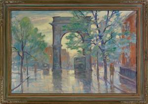Bela DeTirefort(American, 1894-1993), oil on canva