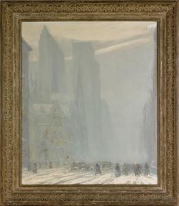 Johann Berthelsen(American, 1883-1972), oil on can