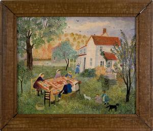 Jeanne Davies(American, b. 1936), oil on canvas Am