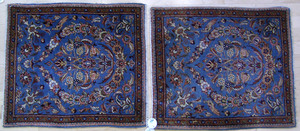 Pair of Sarouk mats, ca. 1930, with floral pattern