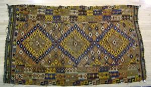 Three Kilim rugs, 13' x 4'9
