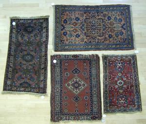 Four Hamadan mats, 4'2