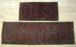 Sarouk throw rug, 5' x 2'6