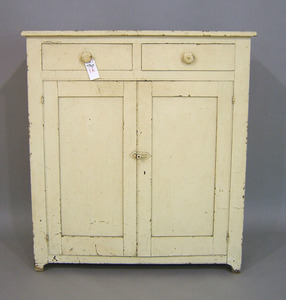 Pennsylvania painted jelly cupboard, 19th c., 48 1
