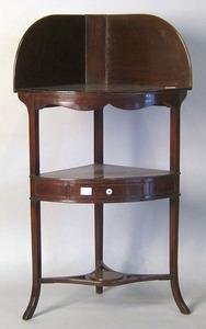 George III mahogany washstand, late 18th c., 44 1/