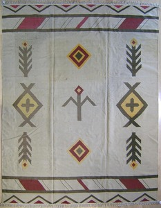 Roomsize woven rug, 12