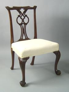 George III mahogany dining chair, ca. 1755 with ca