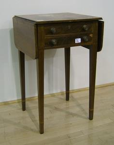 Hepplewhite mahogany work table, ca. 1810, 28