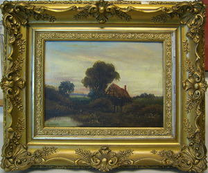 Pair of late 19th c. oil on canvas landscapes, sig