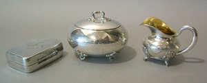 Group of German silver and plate.