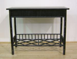 Ebonized bamboo table, 20th c., 32