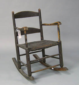 Country painted rocker, 19th c.