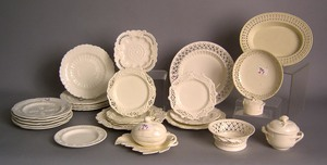 Large group of creamware, early 20th c., to includ